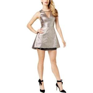 SB by Sachin & Babi Metallic Sparkle Dress